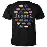 Famous Cars Tails T-shirt