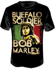 Bob Marley - Buffalo Soldier Adult T-Shirt