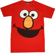 Elmo Face Sesame Street Adult T-Shirt