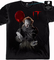 IT Movie - Pennywise Holding Balloon Adult T-Shirt