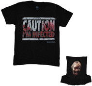 The Walking Dead Caution I'm Infected Flip-Up Reversible Mask Adult T-Shirt