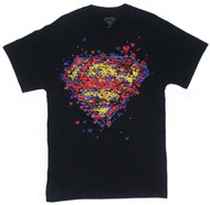 DC Comics Superman Scattered Logos Adult T-Shirt