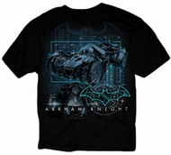 Batman Arkham Knight Batmobile Techno Adult T-Shirt