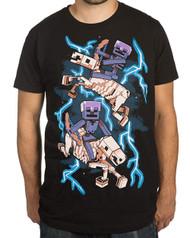 Minecraft Skeleton Riders Premium Adult T-Shirt