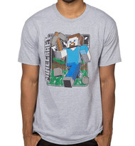 Minecraft Vintage Steve Premium Adult T-Shirt