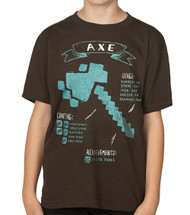 Minecraft Axe Diagram Youth T-Shirt