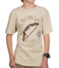 Minecraft Bow Diagram Youth T-Shirt