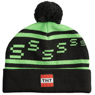 Minecraft Creeper TNT Knit Pom Beanie