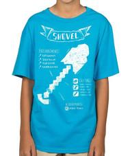 Minecraft Shovel Diagram Youth T-Shirt