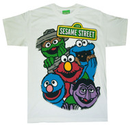 Sesame Street Bright Group Youth T-shirt