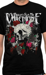 Bullet For My Valentine Skull N Roses Adult T-Shirt