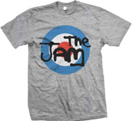 The Jam - Grey Target Adult T-Shirt