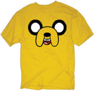 Adventure Time Jake Face Adult T-Shirt