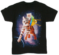 Adventure Time - Finn Jake Space Kitty Adult T-Shirt