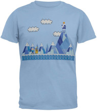Adventure Time With Finn And Jake Pixel Scene Adult T-Shirt
