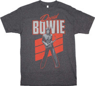David Bowie - Red Sax Adult T-Shirt