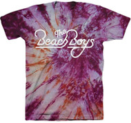 The Beach Boys - Classic Logo Tie Dye Adult T-Shirt