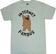 We Bare Bears Internet Famous Adult T-Shirt