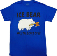 We Bare Bears - Ice Bear Will Take Care of It Adult T-Shirt