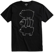 We Bare Bears - Black Bear Stack Adult T-Shirt