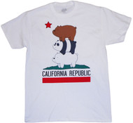 We Bare Bears California Republic Bear Stack Adult T-Shirt