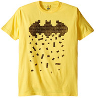 Lego Batman Symbol Crumbling Bricks Adult T-Shirt