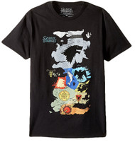 Game Of Thrones Map Of All Houses Adult T-Shirt