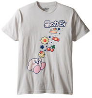 Kirby Eating Lots Candy, Cake, and Food Adult T-Shirt