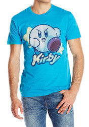 Kirby With Stars Adult T-Shirt