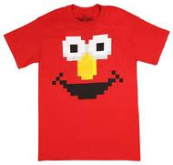 Sesame Street Elmo Pixel 8-Bit Adult T-Shirt