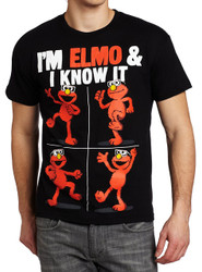 Sesame Street I'm Elmo & I Know It Adult T-Shirt