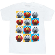 Sesame Street Elmo Pop Art Adult T-Shirt