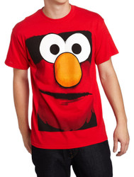 Sesame Street Elmo Big Box Face Adult T-Shirt
