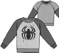 Marvel Mighty Spidy Spider-Man Reverseable Long Sleeve Adult T-Shirt