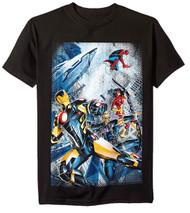 Marvel Iron Man, Spider-Man Avengers City Scene Adult T-Shirt