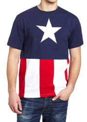 Captain America Caps Cut & Sew Applique Adult T-Shirt
