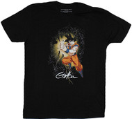 Dragon Ball Z Goku Lightening In Space Image Adult T-Shirt