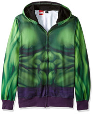 Marvel Buff Hulk Sublimated Costume Adult Hoodie