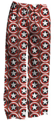 Marvel Captain America Distressed Shield Logo Print Mens Lounge Pants