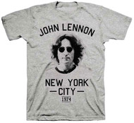 John Lennon NYC New York City 1974 Adult T-Shirt