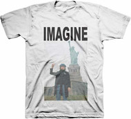 John Lennon Imagine Peace Sign Adult T-Shirt