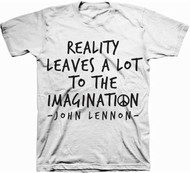 John Lennon Reality Imagination Adult T-Shirt