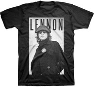 John Lennon Cabbie Portrait Adult T-Shirt
