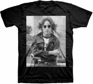 John Lennon B&W NYC Adult T-Shirt