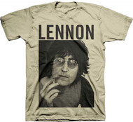 John Lennon Smoke Portrait Adult T-Shirt