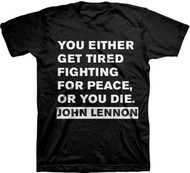 John Lennon Get Tired Adult T-Shirt