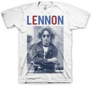 John Lennon - John Lennon Red White & Lennon Adult T-Shirt