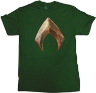 Justice League Movie Aquaman Logo Adult T-Shirt