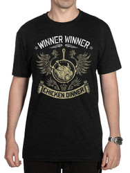 PUBG Pioneer Winner Winner Chicken Dinner Premium Cotton Gaming Adult T-Shirt