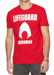 Justice League Aquaman Lifeguard Adult T-Shirt